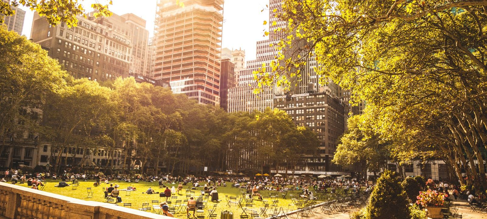 Bryant Park during the daytime in NYC